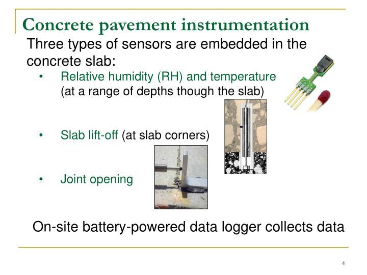 Concrete pavement instrumentation