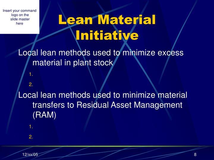 Lean Material