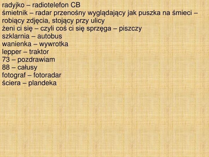 radyjko – radiotelefon CB