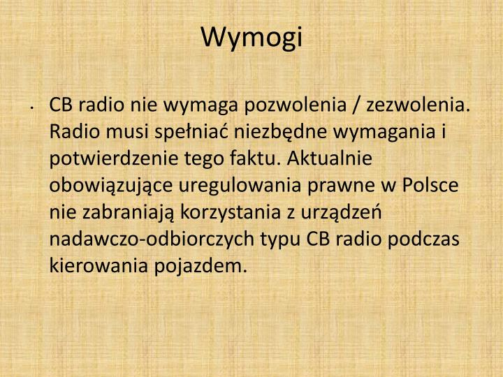 Wymogi