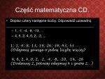 cz matematyczna cd1