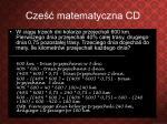 cze matematyczna cd