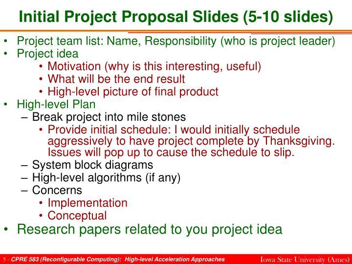 Initial Project Proposal Slides (5-10 slides)