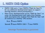 1 math 1342 option