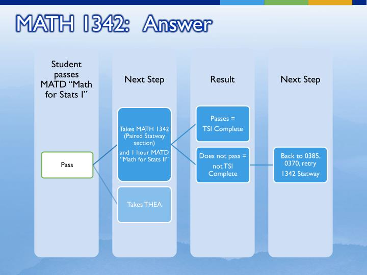 MATH 1342:   Answer