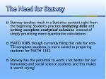 the need for statway1