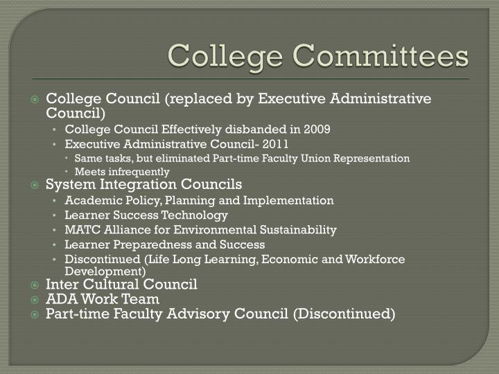 College Committees