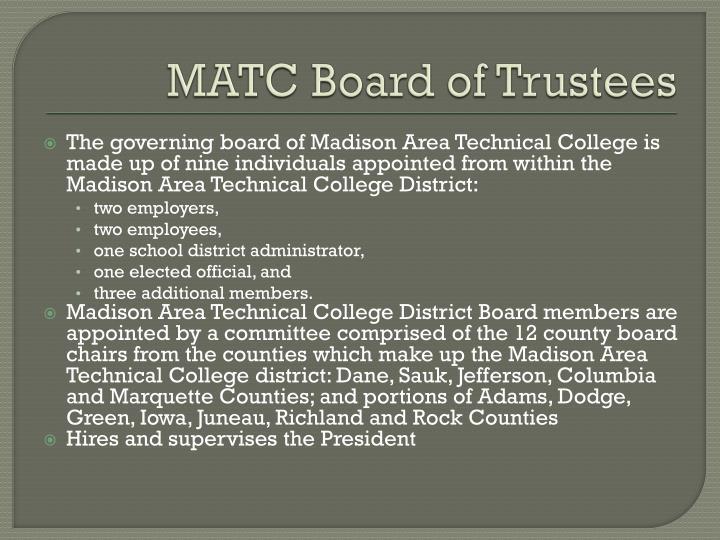 MATC Board of Trustees