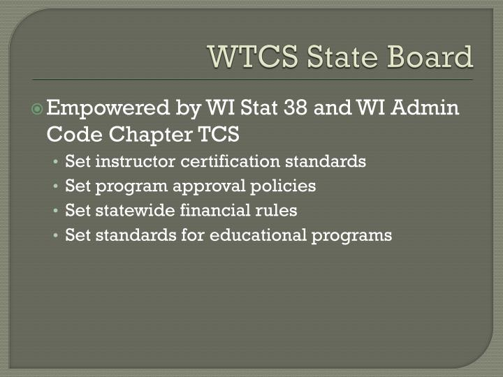WTCS State Board