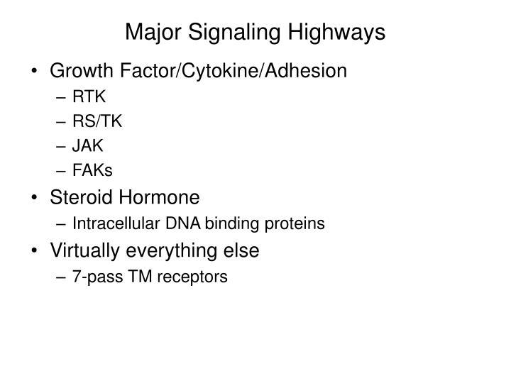 Major Signaling Highways