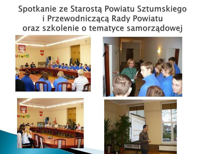 Spotkanie ze Starostą Powiatu Sztumskiego