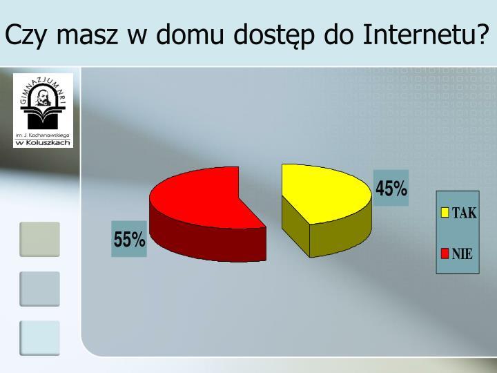 Czy masz w domu dostęp do Internetu?