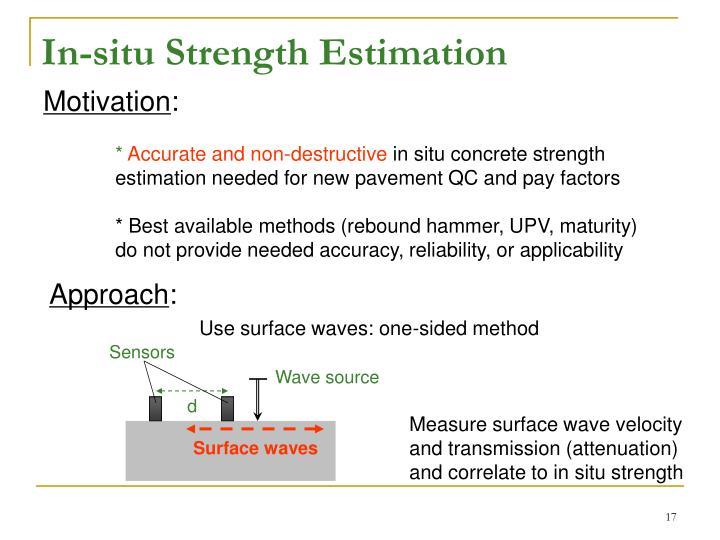 In-situ Strength Estimation