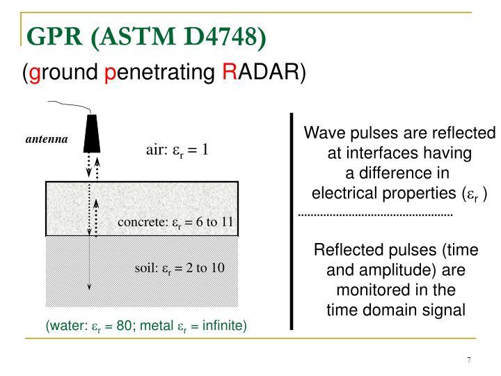 GPR (ASTM D4748)