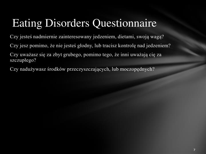 Eating Disorders Questionnaire