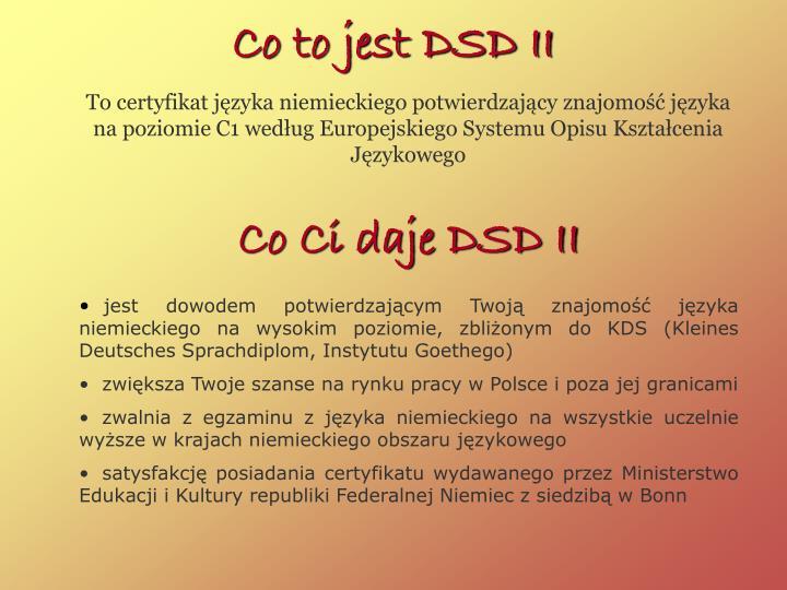 Co to jest DSD II