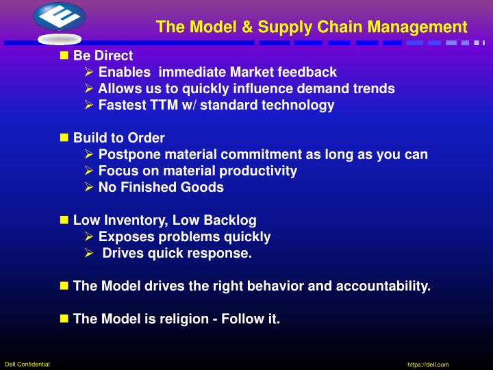 The Model & Supply Chain Management