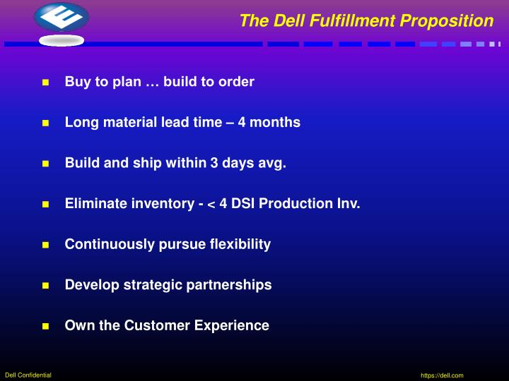 The Dell Fulfillment Proposition