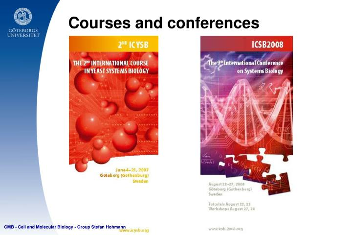 Courses and conferences