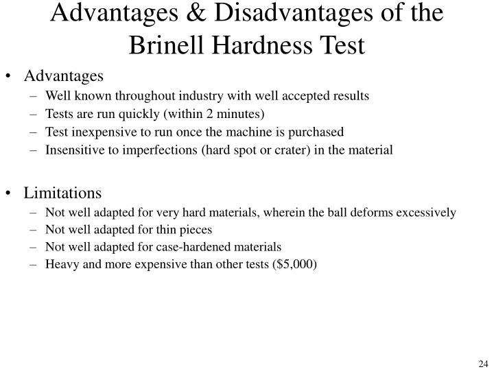Advantages & Disadvantages of the