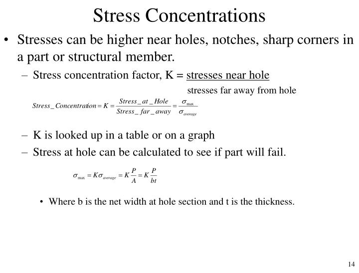 Stress Concentrations