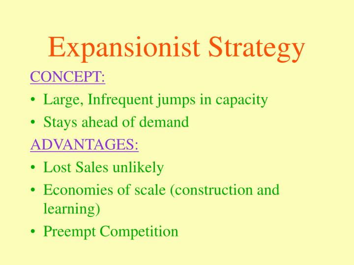 Expansionist Strategy