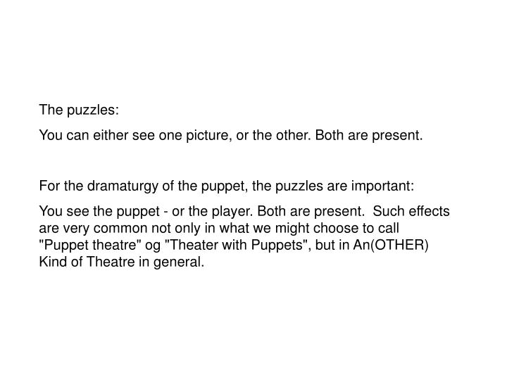 The puzzles: