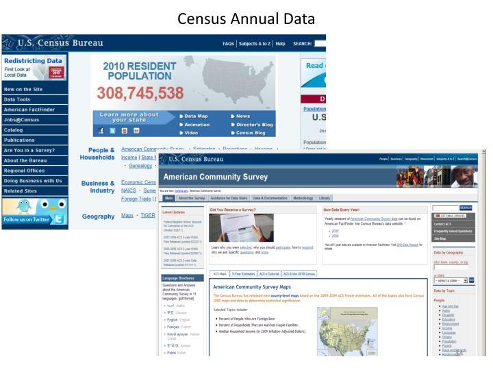 Census Annual Data