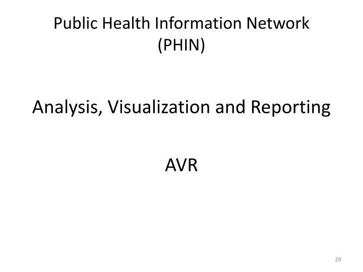 Public Health Information Network