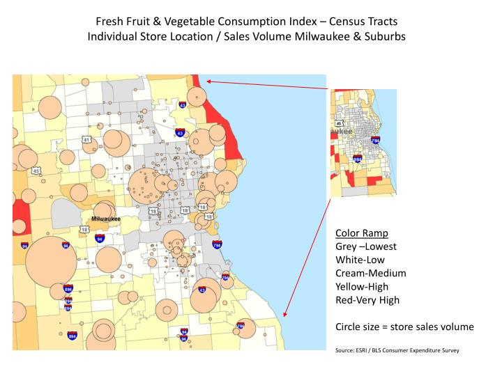 Fresh Fruit & Vegetable Consumption Index – Census Tracts