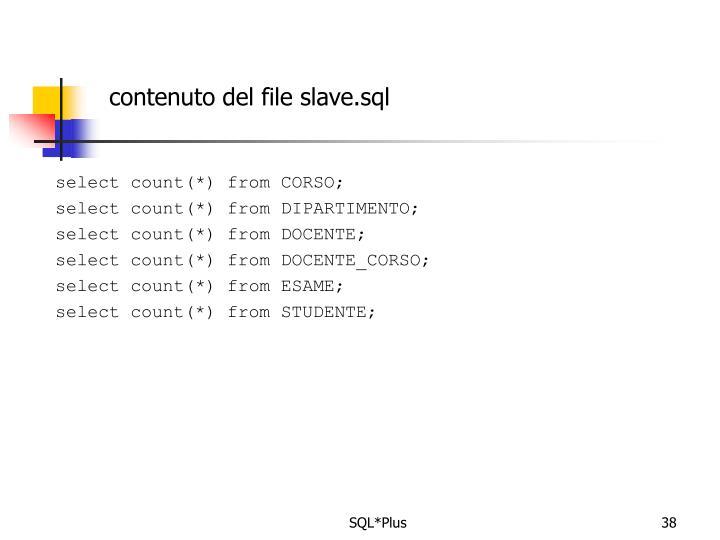 contenuto del file slave.sql