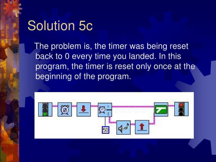Solution 5c