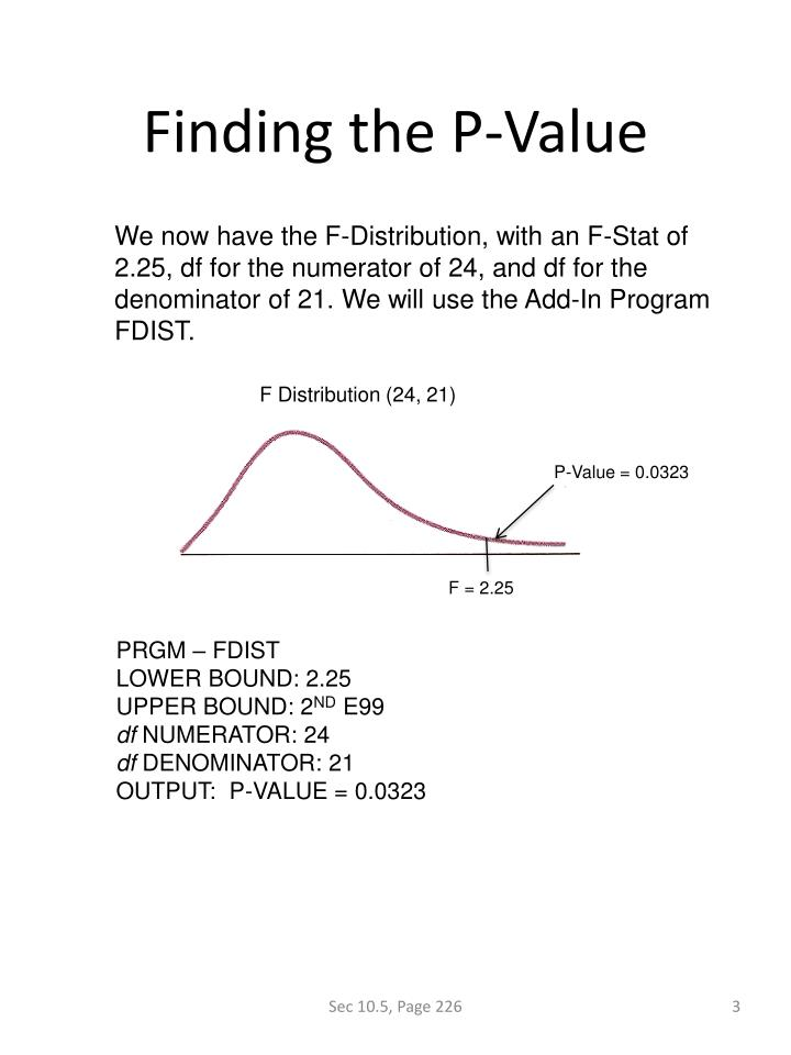 Finding the P-Value