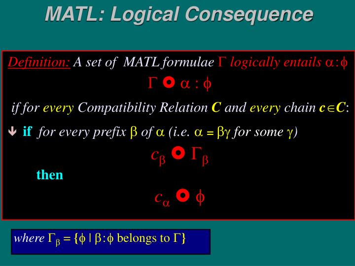 MATL: Logical Consequence