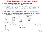 basic issues in vm system design