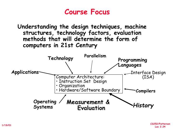 Course Focus