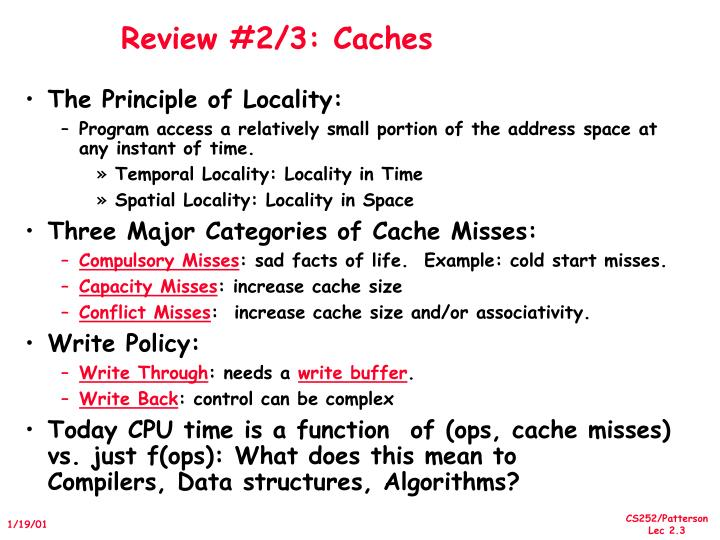 Review #2/3: Caches