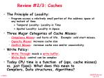review 2 3 caches