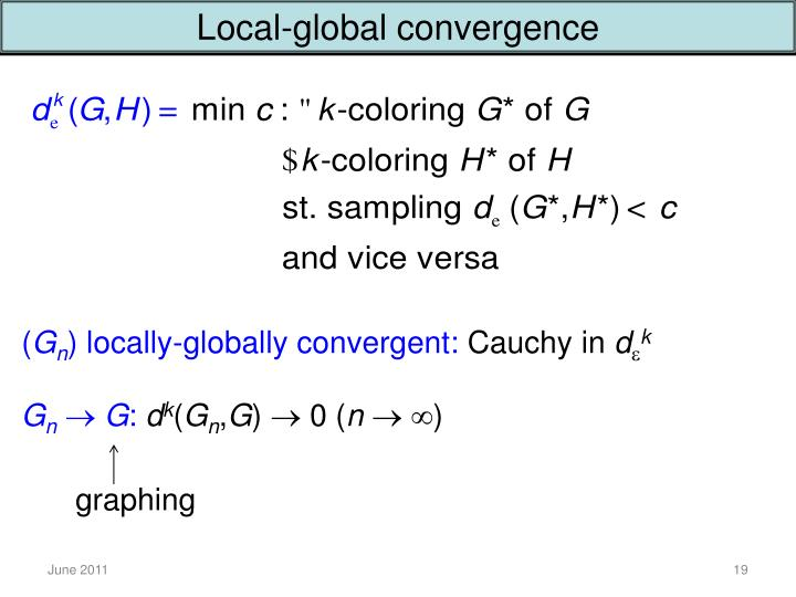 Local-global convergence
