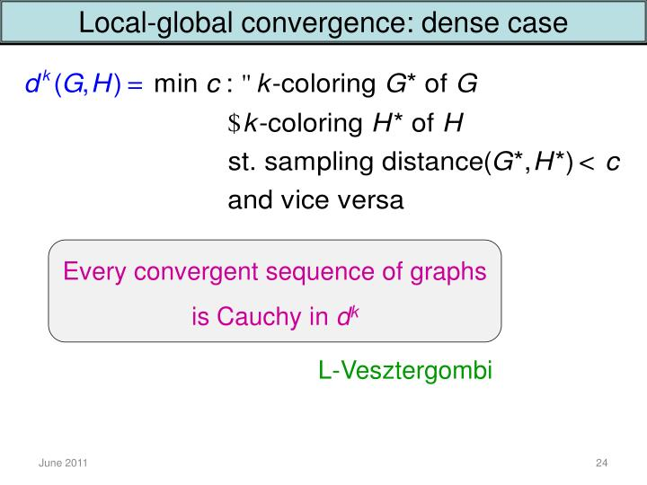 Local-global convergence: dense case