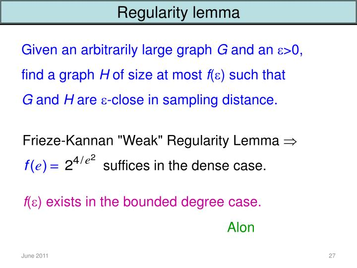 Regularity lemma