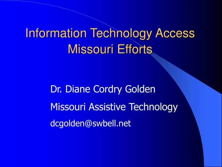 information technology access missouri efforts