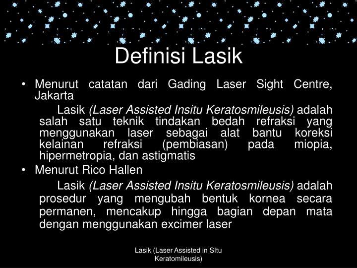 Definisi Lasik