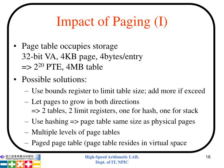 Impact of Paging (I)