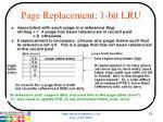 page replacement 1 bit lru