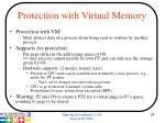 protection with virtual memory