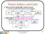 virtual address and cache