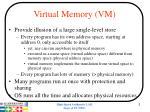 virtual memory vm