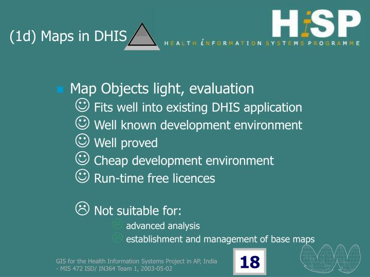 (1d) Maps in DHIS