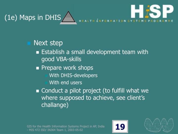 (1e) Maps in DHIS